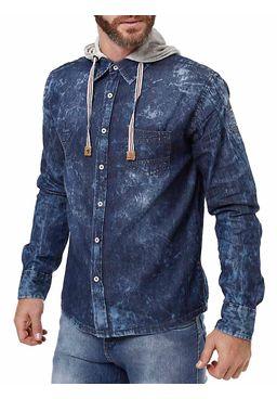 Camisa-Manga-Longa-Masculina-Gangster-Azul
