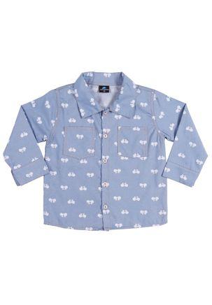 Camisa-Infantil-Para-Menino---Azul-claro