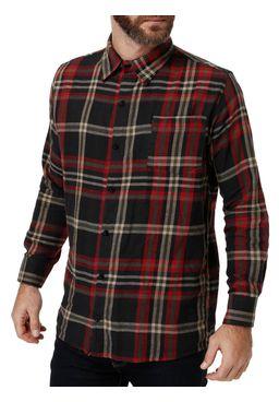 Camisa-Manga-Longa-Masculina-Flanela-Bordo-marrom