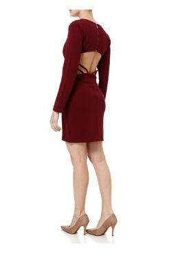 Vestido-Curto-Feminino-Autentique-Vinho