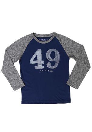 Camiseta-Manga-Longa-Vels-Juvenil-Para-Menino---Azul-cinza