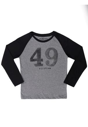 Camiseta-Manga-Longa-Vels-Juvenil-Para-Menino---Cinza-preto