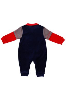 Macacao-Manga-Longa-Infantil-Para-Bebe-Menino---Cinza-azul-marinho