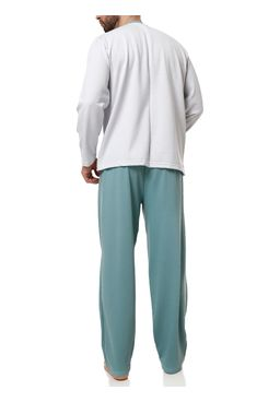 Pijama-Longo-Masculino-Cinza-verde
