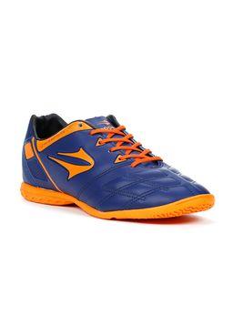 Tenis-Esportivo-Masculino-Topper-Champion-V-Indoor-Azul-marinho-laranja