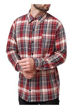 Camisa-Manga-Longa-Masculina-Flanela-Bege-marrom