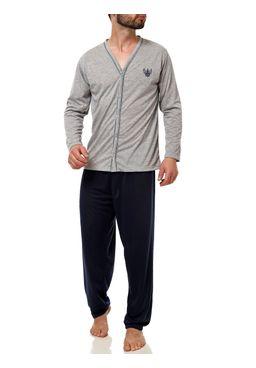 Pijama-Longo-Masculino-Azul-marinho-cinza