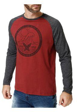 Camiseta-Manga-3-4-Masculina-Vinho