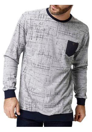 Camiseta-Manga-Longa-Masculina-Dixie-Cinza-claro