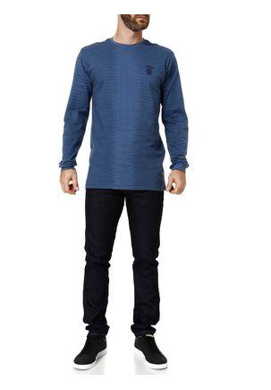 Camiseta-Manga-Longa-Masculina-Dixie-Azul