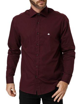 Camisa-Manga-Longa-Masculina-Bordo