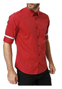Camisa-3-4-Masculina-Vermelho
