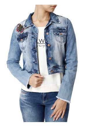 Jaqueta-Jeans-Feminina-Bivik-Bordado-Azul