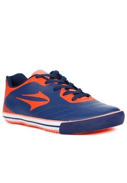 Tenis-Futsal-Masculino-Topper-Frontier-VIII-Coral-azul-marinho