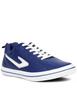 Tenis-Futsal-Masculino-Topper-Dominator-L.-E.-Azul-marinho-branco
