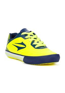 Tenis-Futsal-Topper-Frontier-VIII-Jr-Infantil-para-Menino---Amarelo-azul-marinho