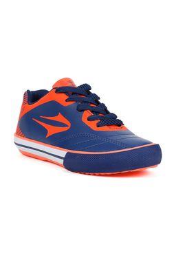 Tenis-Futsal-Topper-Frontier-VIII-Jr-Infantil-para-Menino---Coral-azul-marinho