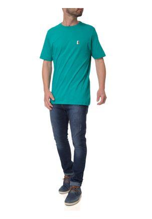 Camiseta-Manga-Curta-Masculina-No-Stress-Verde