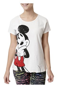 Camiseta-Feminina-Disney-Bege
