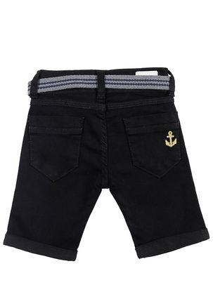 Bermuda-Jeans-Infantil-Para-Menino---Preto