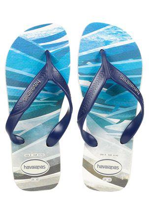 Chinelo Masculino Havaianas Surf Bege/azul