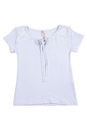 Blusa-Manga-Curta-Juvenil-Para-Menina---Branco