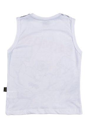 Camiseta-Regata-Batman-Infantil-Para-Menino---Branco