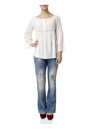 Calca-Jeans-Flare-Feminina-Uber-Azul
