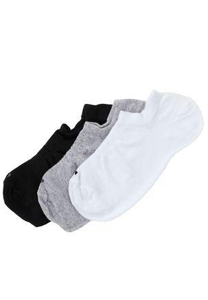 Kit-com-03-Meias-de-Cano-Curto-Masculinas-Lupo-Branco-cinza-preto