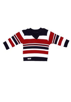 Sueter-Infantil-Para-Bebe-Menino---Azul-marinho-vermelho