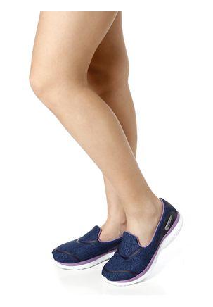 Tenis-Casual-Feminino-Rainha-Bella-Azul-marinho-branco