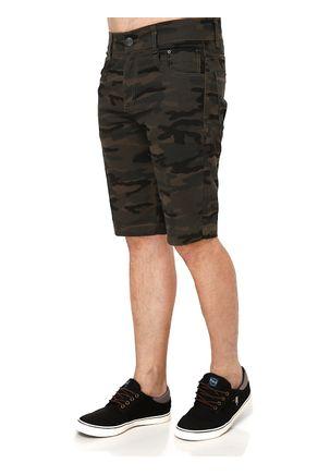 Bermuda-Jeans-Masculina-Camuflada-Verde