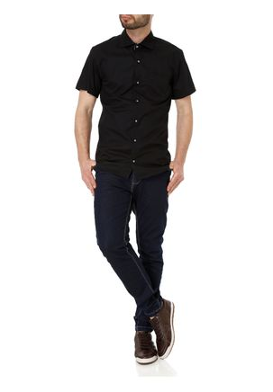Camisa-Manga-Curta-Masculina-Preto