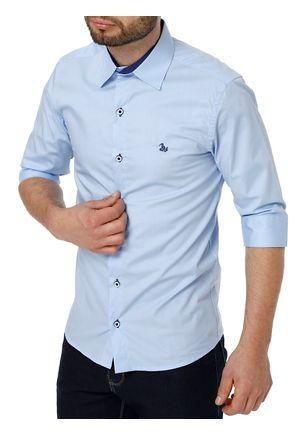 Camisa-Manga-3-4-Masculina-Azul