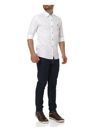 Camisa-Manga-3-4-Masculina-Branco