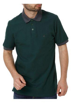 Polo-Manga-Curta-Masculina-Eletron-Verde