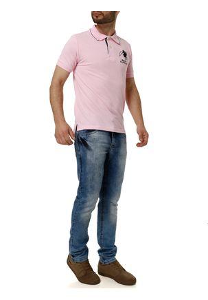 Polo-Manga-Curta-Masculina-Rosa