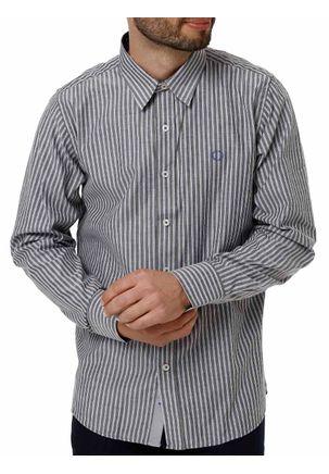 Camisa-Manga-Longa-Masculina-Cinza