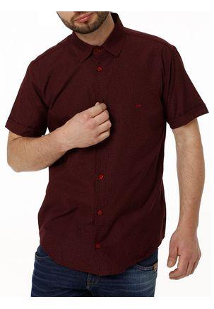 Camisa-Manga-Curta-Masculina-Vinho