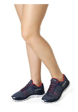 Tenis-Esportivo-Feminino-Fila-Twisting-Azul-marinho-rosa