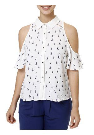 Camisa-Manga-Curta-Feminina-Branco