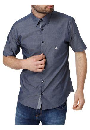 Camisa-Manga-Curta-Masculina-Azul-marinho