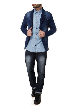 Camisa-Jeans-Manga-Longa-Masculina-Azul-claro