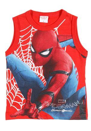 Camiseta-Regata-Spider-Man-Infantil-Para-Menino---Vermelho