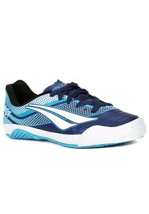 Tenis-Futsal-Penalty-Rocket-Vii-Infantil-Para-Menino---Azul-marinho-branco