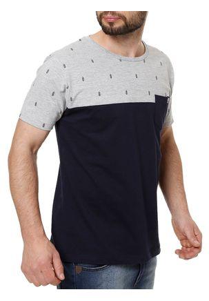 Camiseta-Manga-Curta-Masculina-No-Stress-Azul-marinho