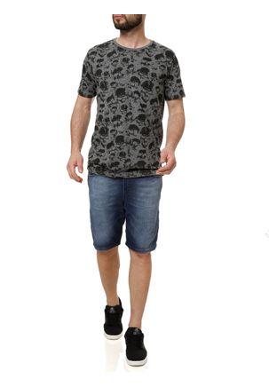 Camiseta-Manga-Curta-Masculina-Local-Cinza-escuro