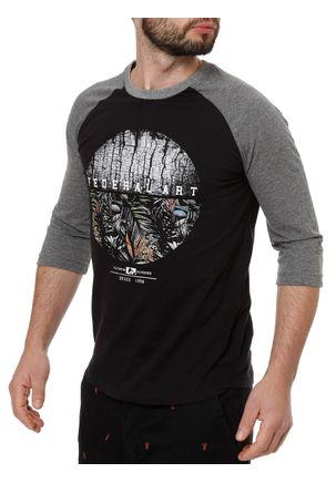Camiseta-Manga-3-4-Masculina-Federal-Art-Preto-cinza