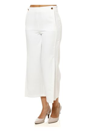 Calca-de-Tecido-Feminina-Pantacourt-Off-white