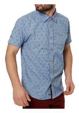 Camisa-Manga-Curta-Masculina-Gangster-Azul